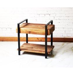 حديد صناعي ورمادي رستي وسكة حديد قديمة طاولة قهوة خشبية للنوم