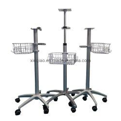 Kundenbezogenheits-Krankenhaus-Instrument-medizinische Laufkatze-Karre in den weißen Farben-und Fußrollen-Rädern mit Bremsen