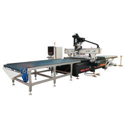 Caricamento e caricamento automatici CNC Router 3D Wood Carving Machine Prezzo con sistema di assorbimento del vuoto applicato alla porta dell'armadietto