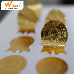Клей тиснения алюминиевых золотая фольга бумага этикетки этикетки печать