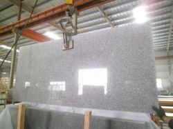 Venda por grosso de boa qualidade barata branco cristal polaco G603 Laje grande de granito de tamanho padrão para venda