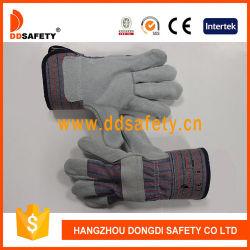 Haute qualité de coton et de gants de travail durables en cuir de vache
