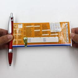 Marchio di promozione della penna della bandiera del rullo che fa pubblicità alla penna del rotolo