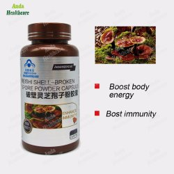 Capsule van het Poeder van de Spore van de Natuurlijke voeding van 100% de Originele Natuurlijke VoedingsReishi shell-Gebroken voor het Verbeteren van Immuniteit (0.3G/capsule*60)