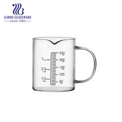 de Kop van het Glas van de Maatregel 250ml Borosilicate voor het Gebruik GB631070250 van het Laboratorium