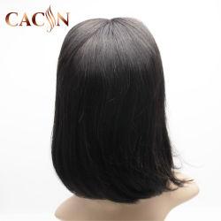 9Um cabelo humano Peruca Curto Bob afro ondulado Lace Peruca Dianteiro