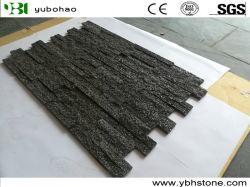Natuurlijke Zwarte Kwartsiet Gecultiveerde Steen voor het Bedekken/van de Bevloering/van de Bekleding van de Muur Decoratie