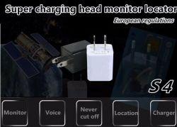 Últimas funciones de voz GSM Cargador de pared USB SIM GPS Tracker dispositivo de escucha del monitor de audio