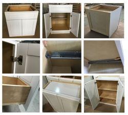 Usine de gros de meubles de cuisine en bois solides de contreplaqué armoires de cuisine moderne