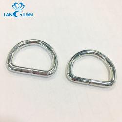 Оптовая торговля Custom никель откройте D кольцо Meta крюк металлическое кольцо для подушки безопасности