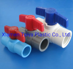 Material de plástico de PVC (PVC-U, UPVC) Válvula de esfera para abastecimento de água