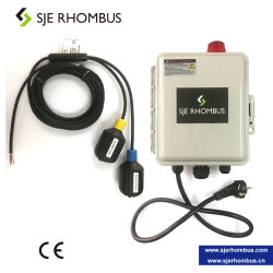 Duplex Panel de control de bomba sumergible, Interruptor de flotador con cable de alimentación, y