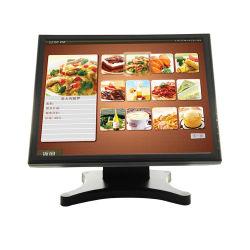 새로운 디자인의 Professional 15' POS 터치 저항성 모드 15인치 화면 모니터를 누릅니다