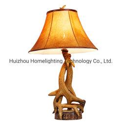 JLT-2415 unieke Design Parchment Lampshade Antler tafellamp