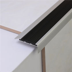 Niu Yuan extrusão de alumínio de perfil Anti Slip Bullnose Obras de escadas de piso da escada