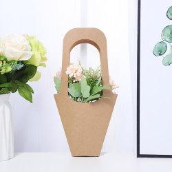 Dom Flores embalagem de papel Kraft Decorando Round Florista Marrom Embalagem flor ecológica impermeável leve titular