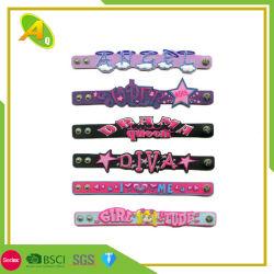 Form Gummi-Band kundenspezifisches buntes Silikon Wristand für Weihnachtstagesarmband (076)