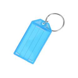 맞춤형 로고 판촉 광고 선물 튼튼한 플라스틱 키 태그 분할 링 라벨 창