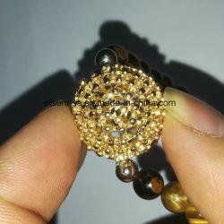 Semi браслет Howlite глаза тигра драгоценного камня Beaded