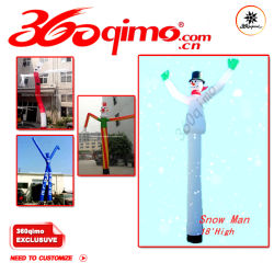 6mh Snow Man dançarino, Airdancer ar tubo, Airdancerman sem ventilador (BMAD6)