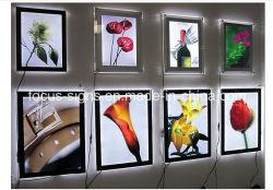 Super LED fina caixa de luz acrílico Cristal assinar (FS-C24)