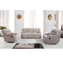 現代ファブリックリクライニングチェアのソファーのスエードのリクライニングチェアのソファー6035#