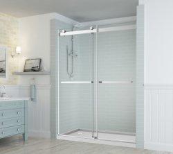 4mm, 6mm a 8mm 10mm 12mm evidente clareza extra deslizante de vidro temperado de Abertura e Fechamento de gelo sauna porta com ferragens em aço inoxidável