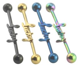 Fake anodizzato Industrial Barbell Piercing Jewelry (6666BK)