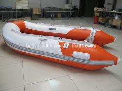 Venda 3,0 m barcos infláveis para lazer com 0.9mm Koreanpvc, barcos desportivos com piso de alumínio, piso de madeira compensada, Deck de ar com marcação Ceritification