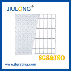 Checkered Plate를 가진 최신 DIP Galvanized Compound Bar Grating Steel Floor Grating