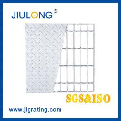 Uso intensivo industrial compuesto de rejilla de la barra de acero galvanizado con placa de cuadros y la aprobación CE