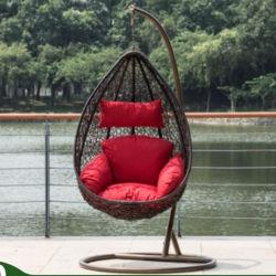 등나무 등나무 화덕이 있는 파티오 가구, 실외 정원 스윙 의자