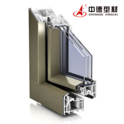 profili bianchi/candidi bianchi/puliti blu della conca UPVC/PVC di Zhongde per Windows ed i portelli