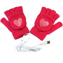 Черный зимой теплее трикотажные Full-Finger перчатки