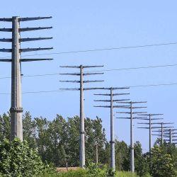 Transmisión de energía eléctrica de la línea Terminal solo poste de acero de la torre de hierro