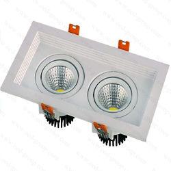 di 2*5W 2*10W della PANNOCCHIA LED della griglia indicatori luminosi di impresa del quadrato del soffitto messi indicatore luminoso giù