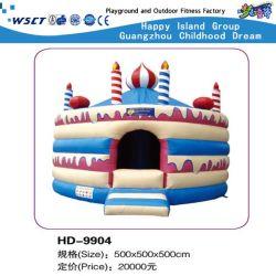 Reizendes Karikatur-aufblasbares Schloss-Spiel-kleines federnd Haus (HD-9904)