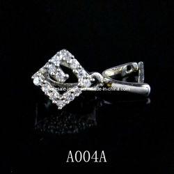 Fermoir Engravable Pendentif en argent, bijoux en argent fermoir, Jade fermoir de la poignée de commande (A004A)