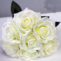 Venda por grosso de Seda Artificial Rose Flores Decoração de Casamento Flores