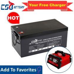 Csbattery 12V300ah Ciclo profundo para bateria de gel para o Solar/Wind/Bomba/Telecom/Golf-Car/Wheel-Chair/CSI