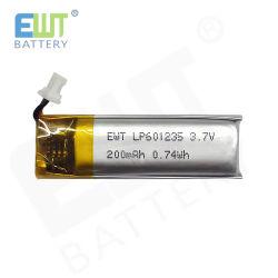 RCのためのリチウムイオン電池Lp601235 Lipo 3.7V 200mAh 0.74whポリマー