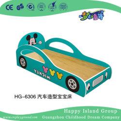 Bed van de School van de Auto van het beeldverhaal het Model Stevige Houten met Mickey Mouse (Hg-6306)