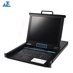 Aze 좋은 명망 Cat5 UTP 8 운반 Kvm 스위치 - Rmcon1908c에 랙마운트 스위치 VGA USB Kvm 장치 증량제