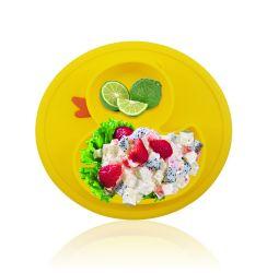 Petit Canard bébé vaisselle bébé Silicone Non-Toxic Récapitulatif de fonctionnement assiette à dîner Cuvette de bébé