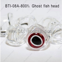 Der meiste populäre freie transparente Geist-Fisch-Plastikkopf mit unterschiedlicher Größen-Wahl
