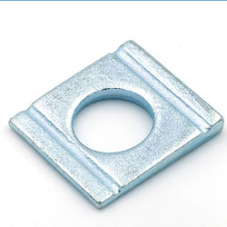 チャネルセクションのためのDIN434 DIN435の炭素鋼亜鉛正方形の先を細くすることの洗濯機