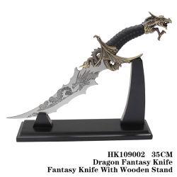As embarcações de metal da Faca Dragon Fantasy Adorno Inicial da Faca 55cm