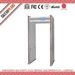 La temperatura umana dell'assegno automatico del cancello del metal detector di obbligazione di progressione e dà l'allarme