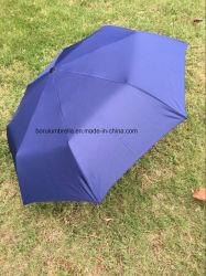 Ende-Jahr Geschenke 3 falteten Regenschirm mit dem geöffneten Handbuch, Gummigriff (BR-FU-402)