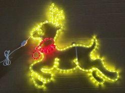 L'animal a conduit la corde de rennes motif 2D de lumière pour la décoration de Noël